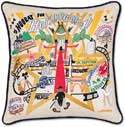 Hollywood California Handmade Geography Pillow