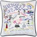 Handmade Embroidered Marthas Vineyard Pillow