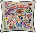 Maryland Handmade Embroidered State Pillow