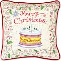Merry Christmas Celebration Pillow