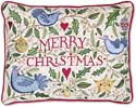 "Embroidered Merry Christmas Love Pillow<br><font color=""red""><font size=""2""><b>Limited Edition</b></font></font>"