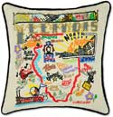 Midwestern State Embroidered Illinois Pillow