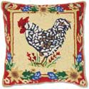 Nantucket Rooster Handmade Pillow