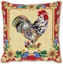 Nantucket Rooster Hen Pillow