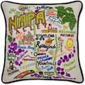 Napa Valley California Wine Pillow