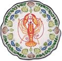 Nautical Coastal Lobster Shell Pillow