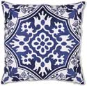 Navy Blue Embroidered Pillow