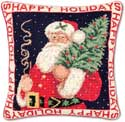 Old Fashioned Santa Pillow