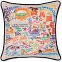 Orange County Embroidered Geography Pillow