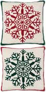 Pair Handmade Snowflakes Christmas Pillows