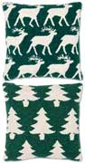Pair Reindeer Christmas Tree Pillows