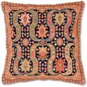 Persian Design I Floral Needlepoint Throw Pillow