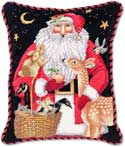 Santa Forest Christmas Pillow