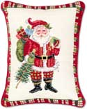 Santa Gifts Christmas Pillow