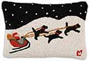 Santa Sleigh Decorative Pillow