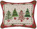 Seasonal Holiday Trees Decorative Pillow