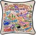 Sonoma County California Embroidered Pillow