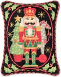 Steinbach Nutcracker Needlepoint Pillow