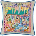 Tropical Miami Florida Throw Pillow