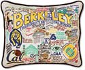 University Of California Berkeley Embroidered Pillow