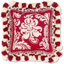 Victorian Needlepoint Christmas Pillow