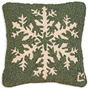 Winter Holiday Snowflake Throw Pillow