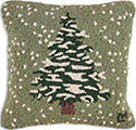 Winter Snowy Tree Seasonal Pillow