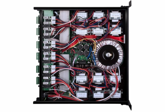 12x Channel, 6x Zone 70V/100V/8 Ohm Commercial Multi Combination Amplifier with IR Remote Control and IP Addressable RS232 connection