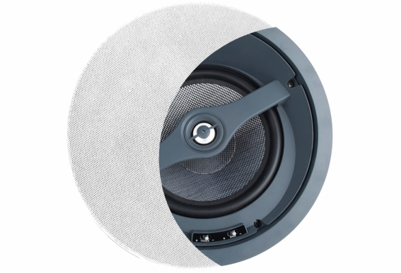 "ACE870 Angled Kevlar Invisible Trimless 8"" Ceiling Speaker Single"