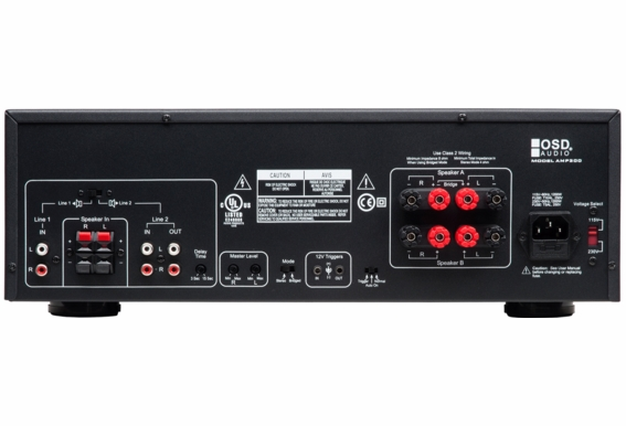 AMP300 High Current Class A/B 2 Channel Amplifier 350-Watt (2 Ohm stable) Bridged Mono 470-Watt
