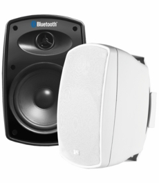 "BTP525 Wireless 5.25"" Bluetooth 2-Way Outdoor Patio Speaker Pair Composite Resin Low Resonator Cabinet"