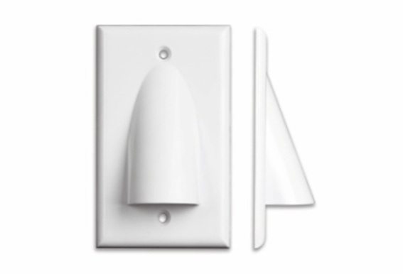 Pass Through Bundle Wall Plate Single Gang by OSD Audio