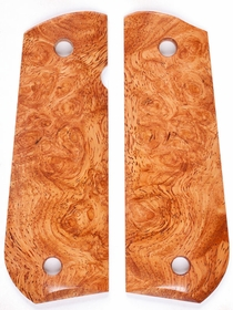 Amboyna Burl - Rounded Butt Full Size 1911