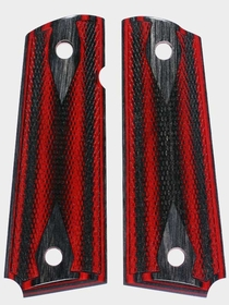 Apple Jack Dymondwood Grips - Charcoal Top - Double Diamond Checkered