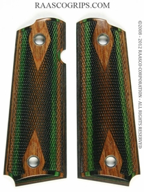 Camo Dymondwood Grips for Taurus 1911 - Walnut Top