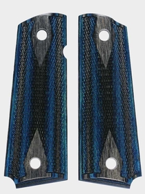Charcoal and Blue Dymondwood - Double Diamond Checkered