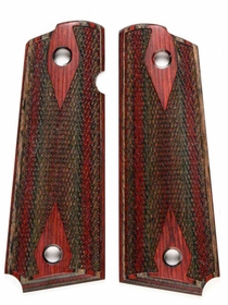 Charcoal Ruby Dymondwood Grips for Taurus 1911