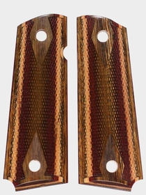 Desert Camo Dymondwood Grips - Double Diamond Checkered