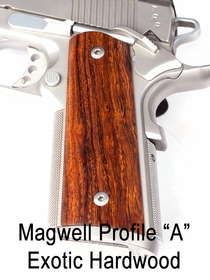 "Magwell Profile ""A"" Exotic Hardwood Grips"