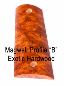 "Magwell Profile ""B"" Exotic Hardwood Grips"