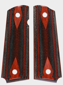 Santos Zebra Dymondwood - Cocobolo Macassar Top - Double Diamond Checkered
