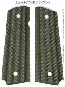SLIM Linen Phenolic - Green - Tactical Fluted