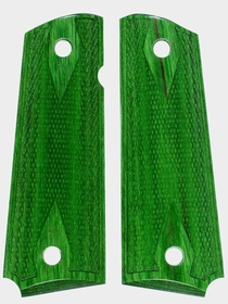 Tahitian Jadewood Dymondwood Grips - Double Diamond Checkered