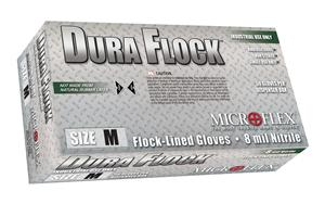 Nitrile Gloves: Flock-Lined  / Microflex Dura Flock®
