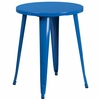 24'' Round Blue Metal Indoor-Outdoor Table [CH-51080-29-BL-GG]