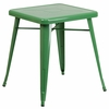 23.75'' Square Green Metal Indoor-Outdoor Table [CH-31330-29-GN-GG]