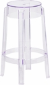 25.75'' High Transparent Counter Height Stool [FH-118-APC1-GG]