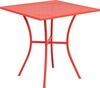 28'' Square Coral Indoor-Outdoor Steel Patio Table [CO-5-RED-GG]