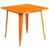 31.5'' Square Orange Metal Indoor-Outdoor Table [ET-CT002-1-OR-GG]