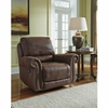 Benchcraft Breville Rocker Recliner in Espresso Faux Leather [FBC-8009REC-ESP-GG]